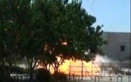 רגע הפיצוץ בדרום טהרן