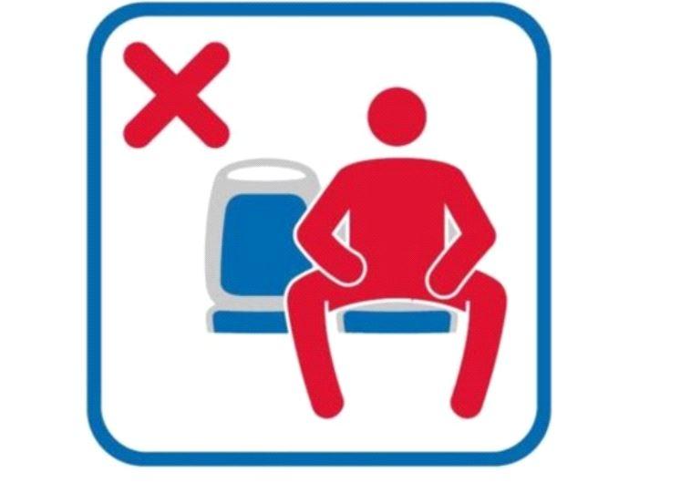 איסור פיסוק רגליים בישיבה בתחבורה ציבורית, מדריד. טוויטר