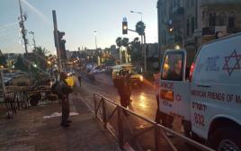 זירת הפיגוע בשער שכם בירושלים