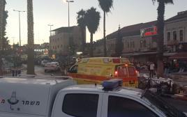 זירת הפיגוע המשולב באזור שער שכם בירושלים