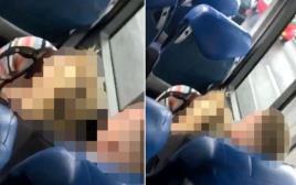 זוג חרמן נתפס באקט באוטובוס