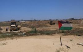 אזור החיץ שהחמאס מקים בגבול מצרים