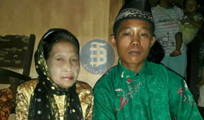 רומנטי. בת 71 התחתנה עם בן 16