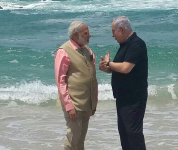 בנימין נתניהו וראש ממשלת הודו מודי