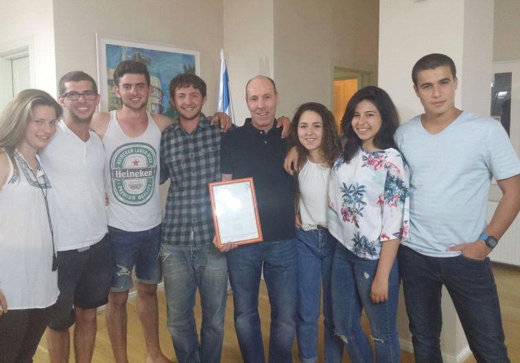 חברי המשלחת עם שגריר ישראל באלבניה