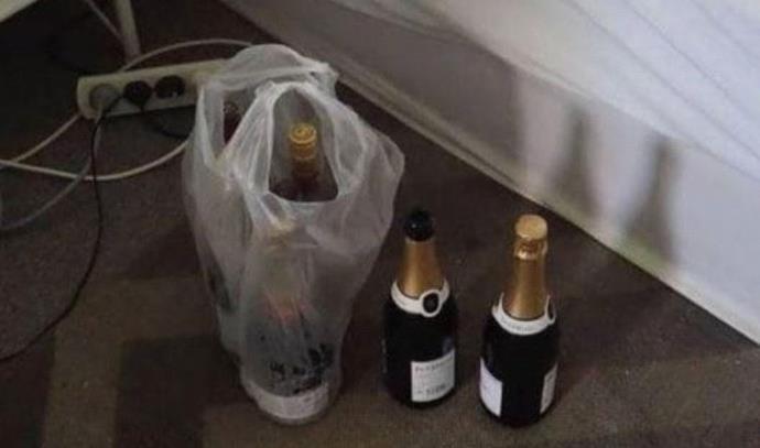 פרץ לבית, שתה שמפניה יקרה, ונרדם במיטה