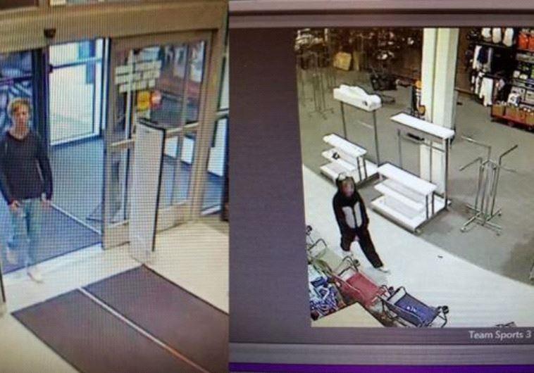 נכנס לחנות, לקח את הרובה וברח. האיש ותחפושת הפנדה. צילום: טוויטר