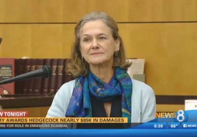 סינתיה הדג'קוק בבית המשפט. צילום מסך