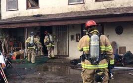 שרף לעצמו את הבית